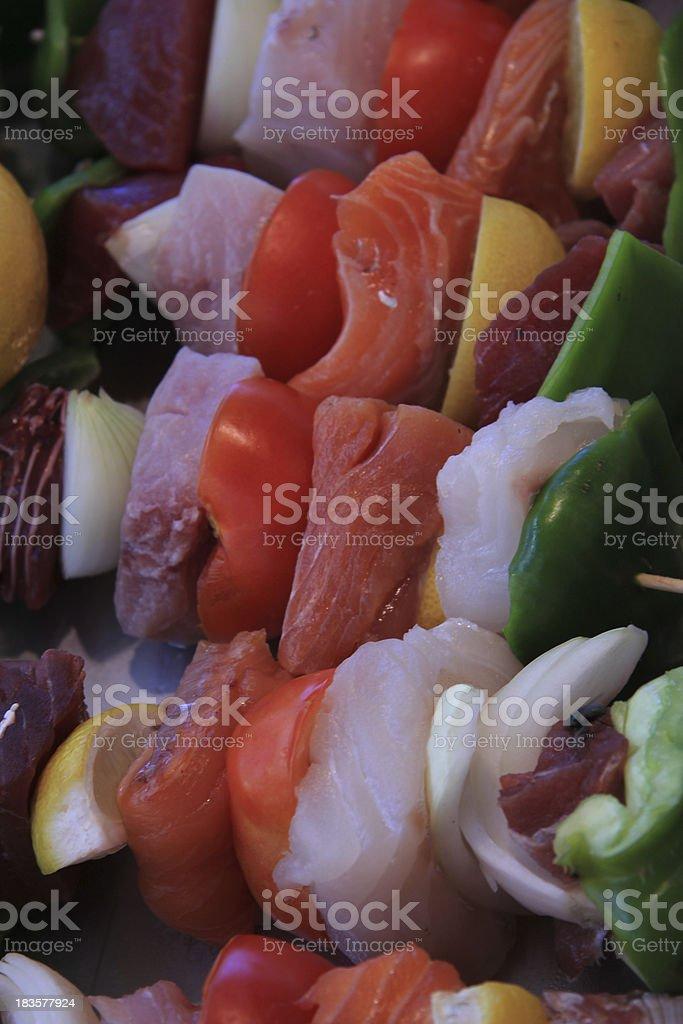 Fish shashlik royalty-free stock photo