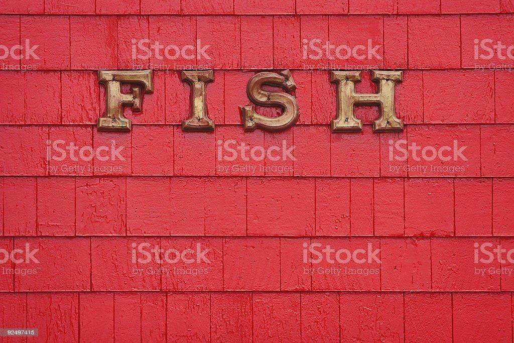 Fish Sign royalty-free stock photo