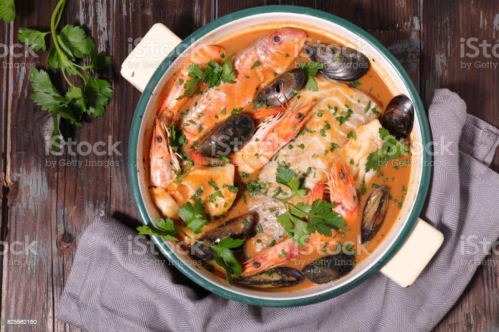 Fisch Suppe bouillabaisse – Foto