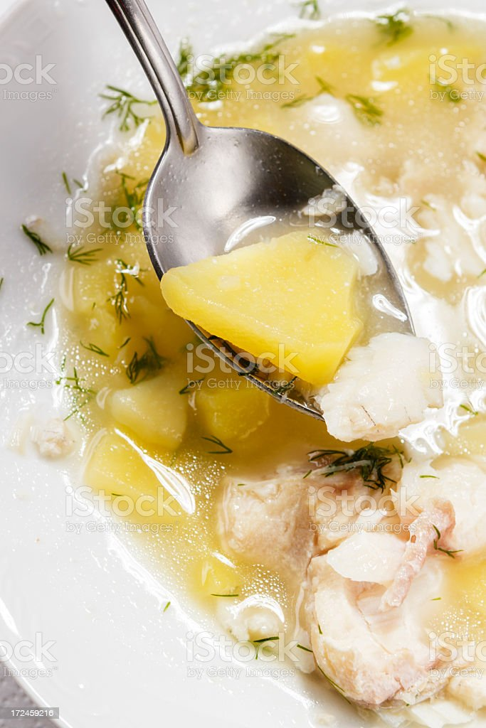 fish soup royalty-free stock photo