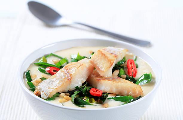 Fish soup stock photo