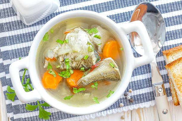 sup ikan - kaldu ikan potret stok, foto, & gambar bebas royalti