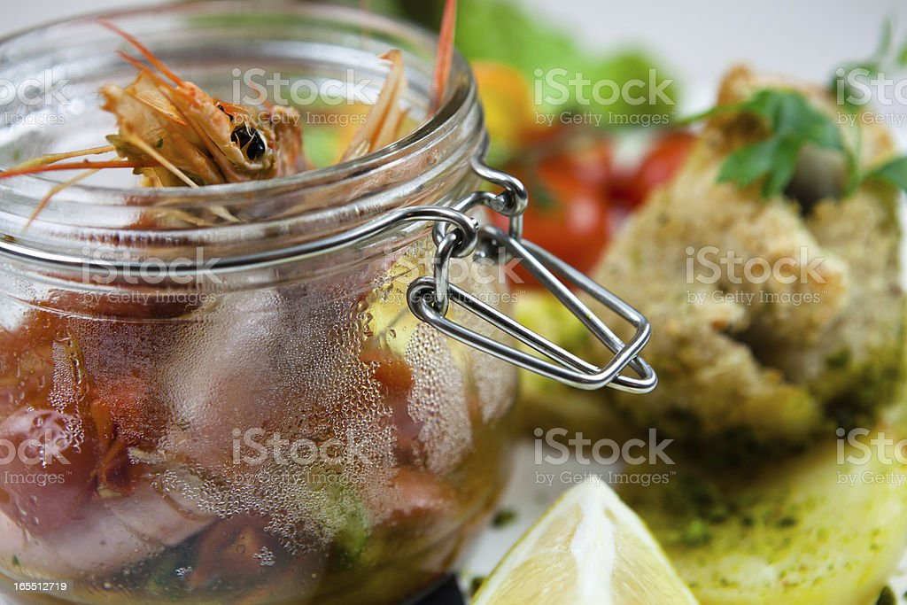 fish soup with rice royalty-free stock photo