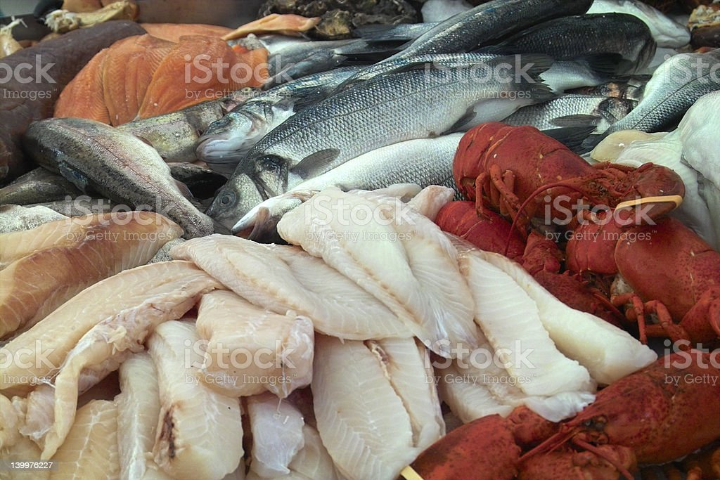 Fish Stall royalty-free stock photo