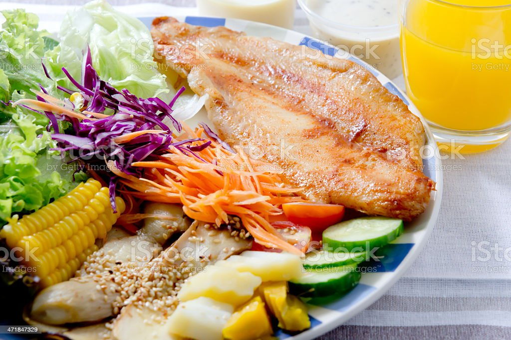 Fish steak menu royalty-free stock photo