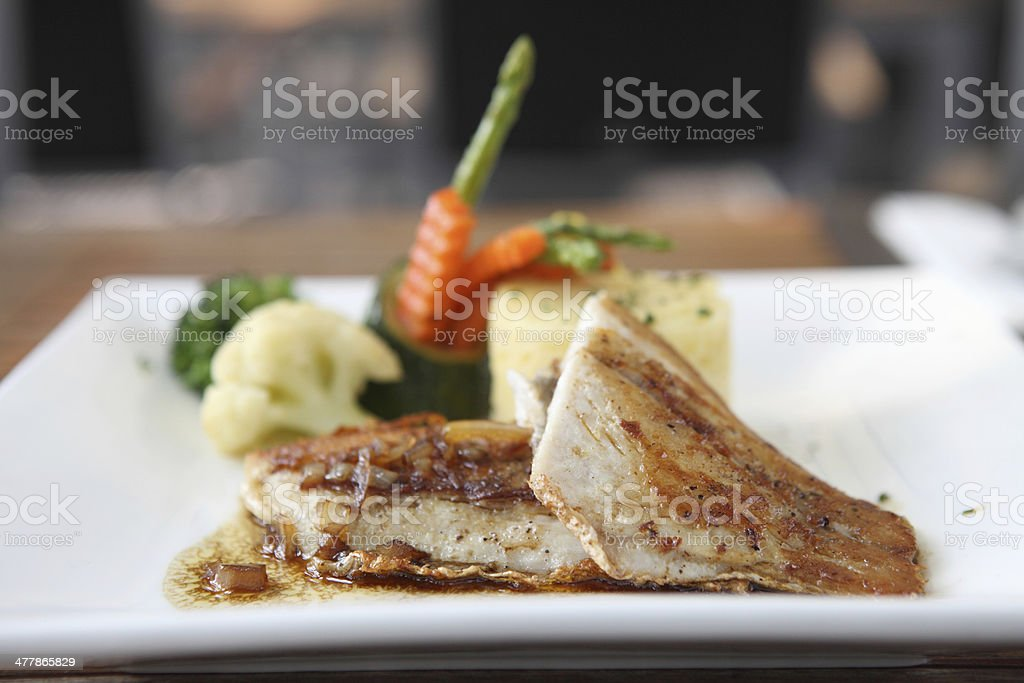 Fish steak royalty-free stock photo