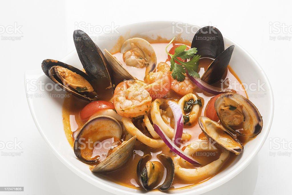 Fish Stew stock photo