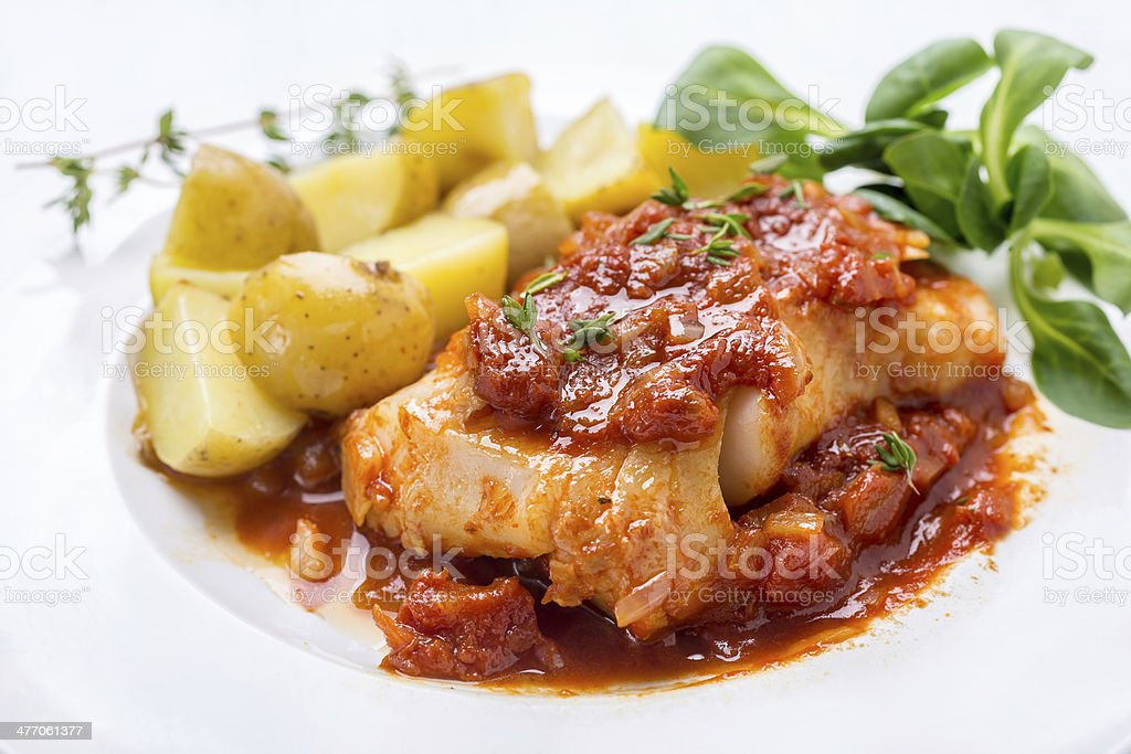 Fish Stew stock photo