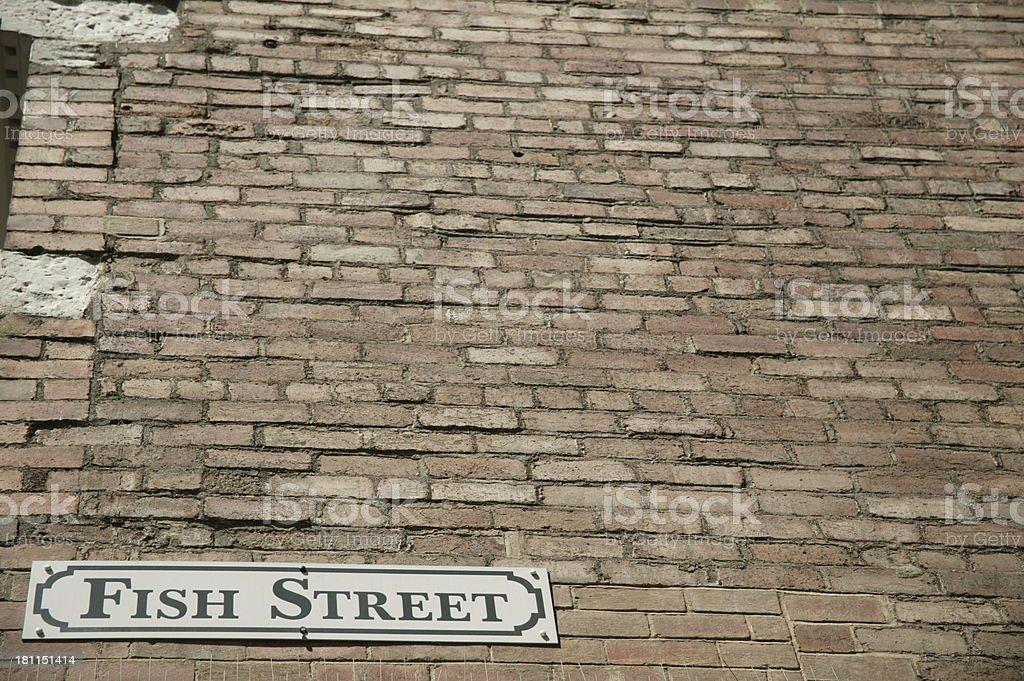 fish street on red brick royalty-free stock photo