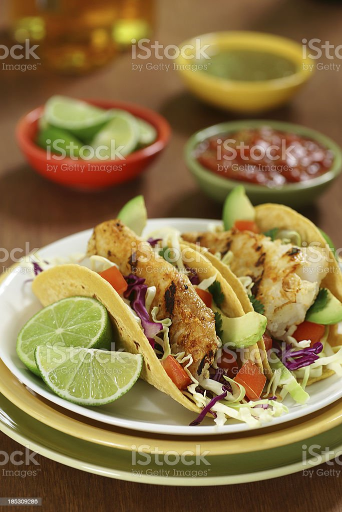 Fish Tacos royalty-free stock photo