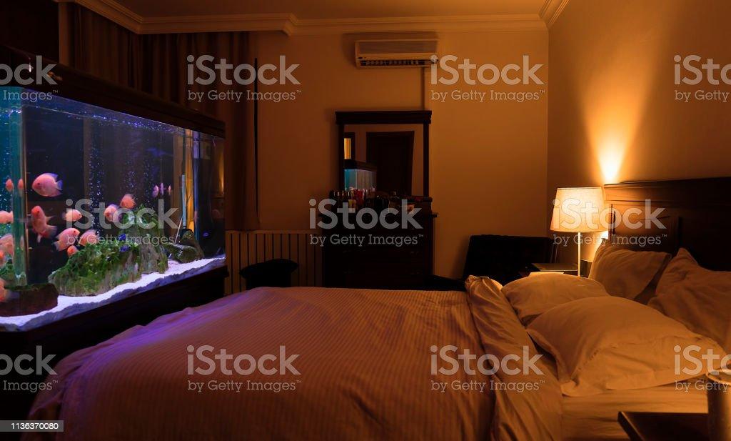 Fischbehälteraquarium Im Schlafzimmer Stockfoto und mehr ...