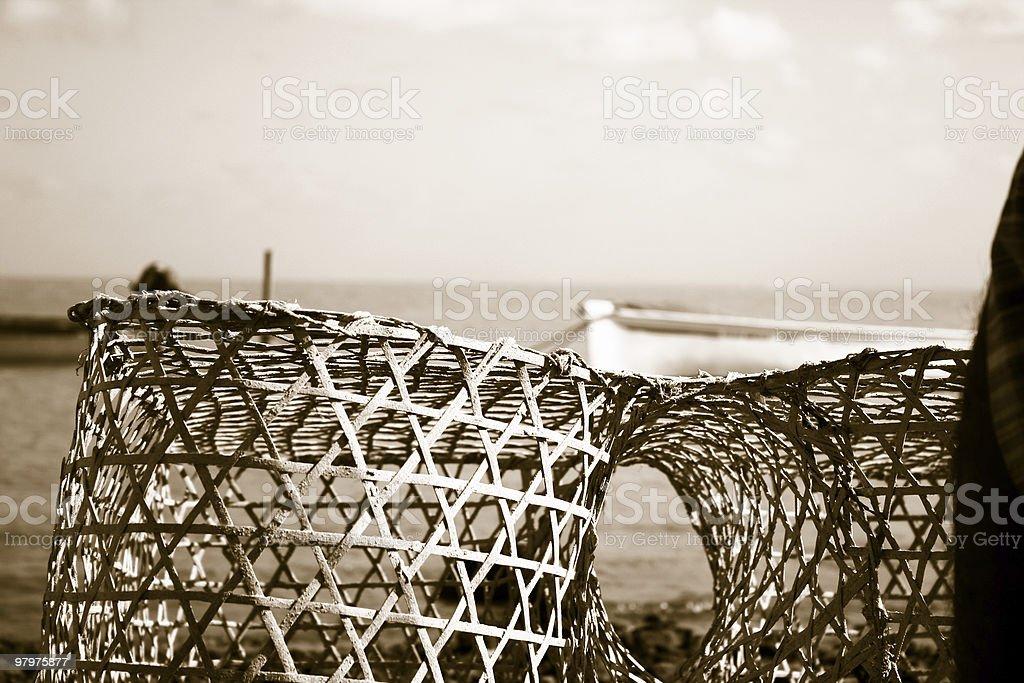 fish trap royalty-free stock photo