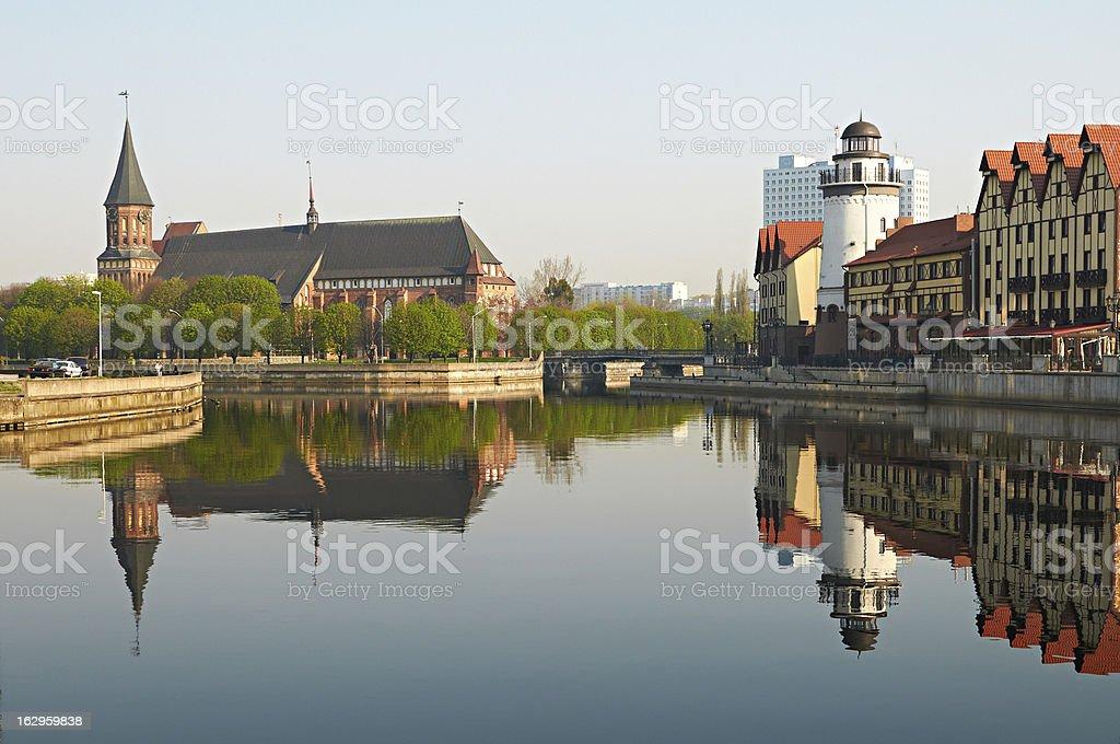Fish Village. Kaliningrad. Russia stock photo