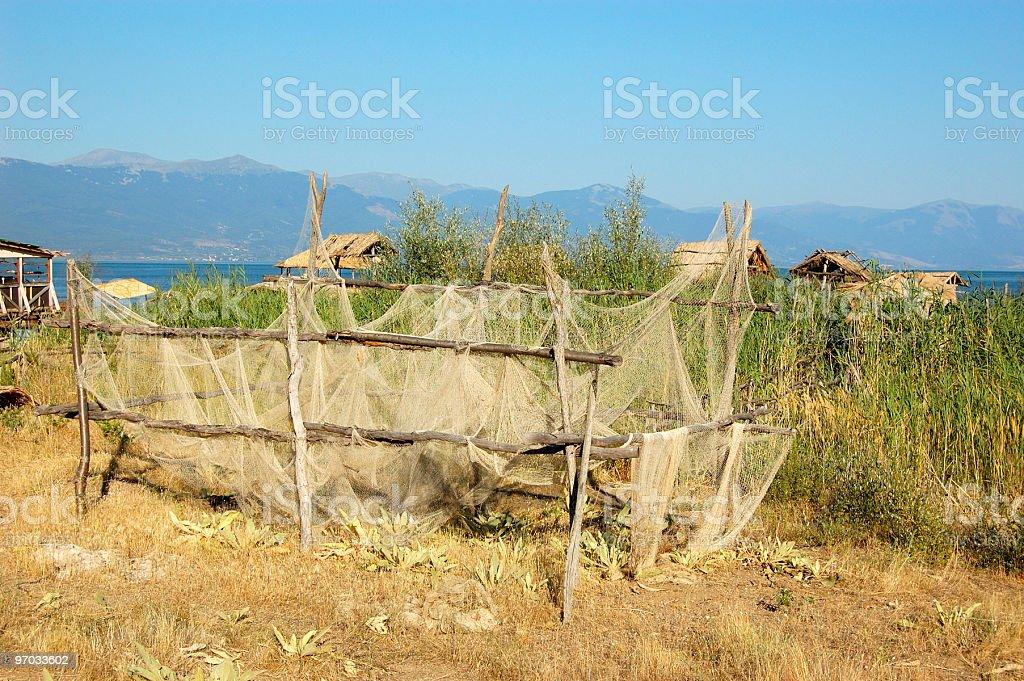 Fish Village stock photo