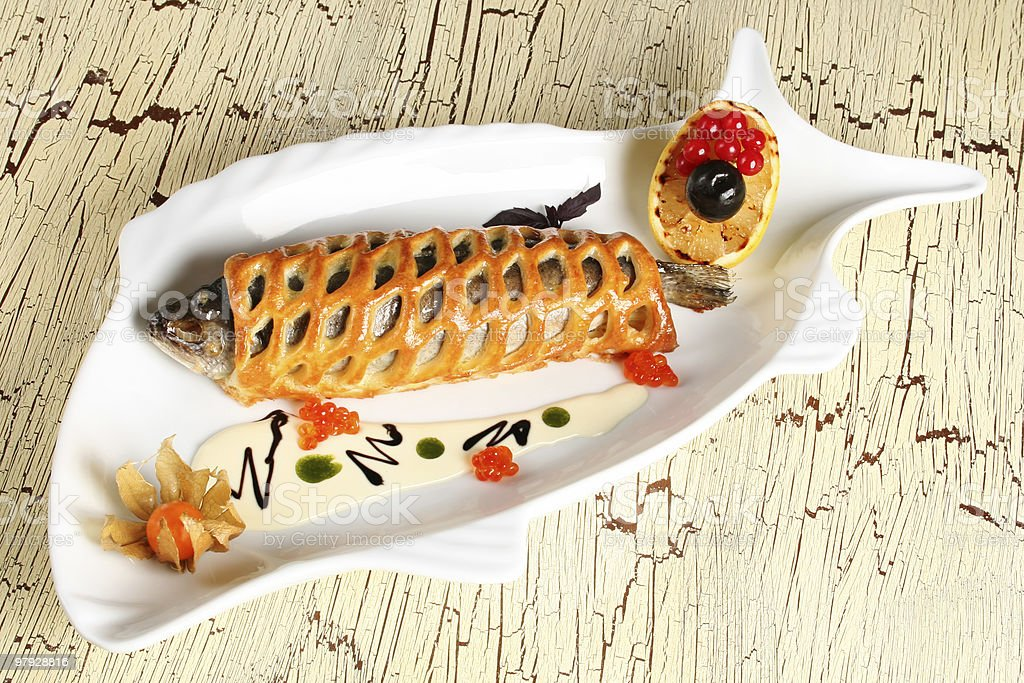 Fish with bread royalty-free stock photo