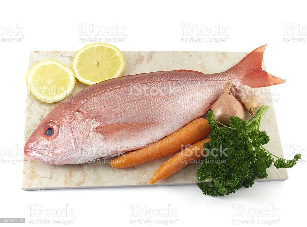 fish with carrots royalty-free stock photo