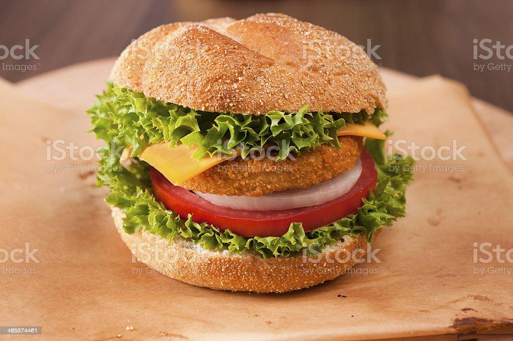 Fishburger royalty-free stock photo