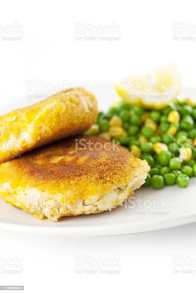 Fishcakes royalty-free stock photo