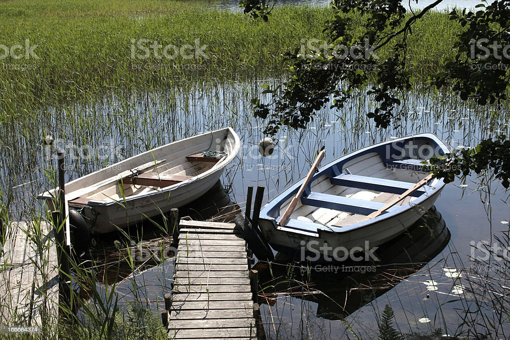 Fisher boats royalty-free stock photo