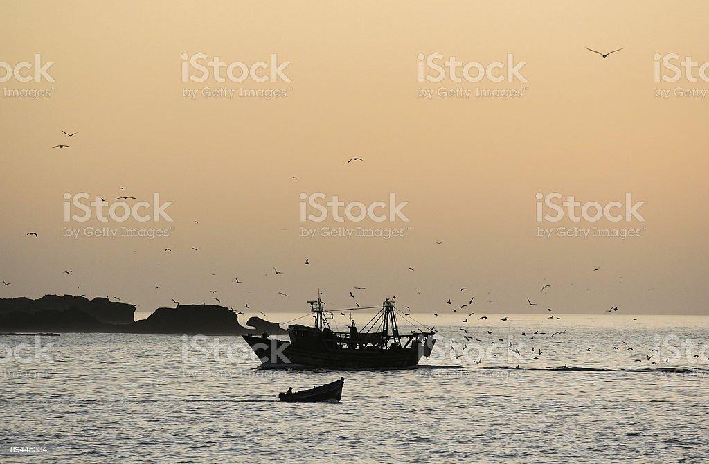 Fisher bateaux photo libre de droits