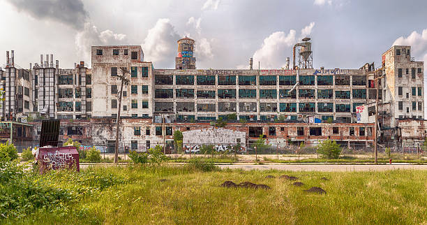 fisher body plant - abandoned stock photos and pictures