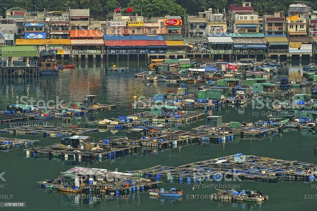 Fisher folk's village - Yung Shue O, Lamma Island stock photo