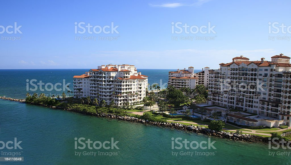 Fisher island luxury condos miami beach royalty-free stock photo