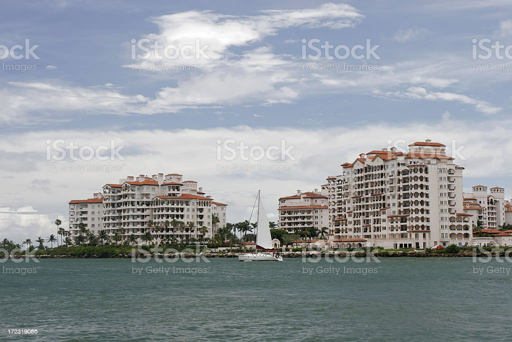Fisher Island royalty-free stock photo