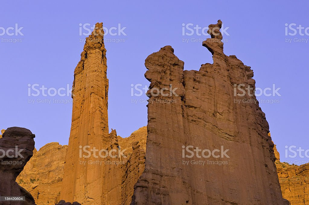 Fisher Towers Moab Utah royalty-free stock photo