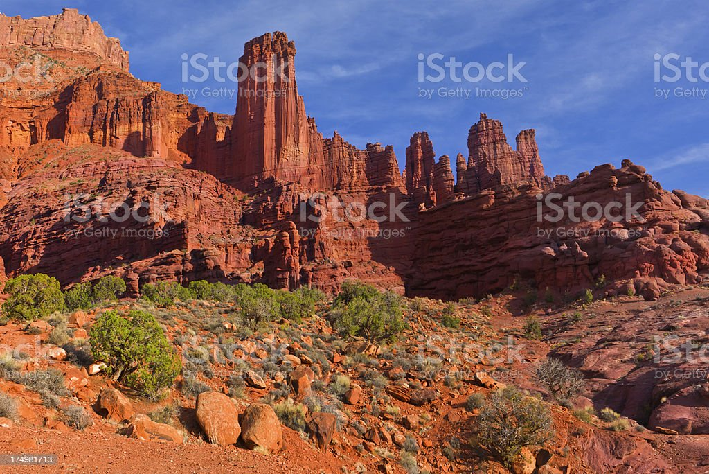 Fisher Towers royalty-free stock photo