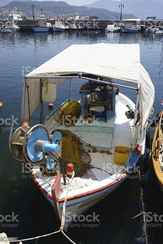 Fisherboat at Lesbos royalty-free stock photo