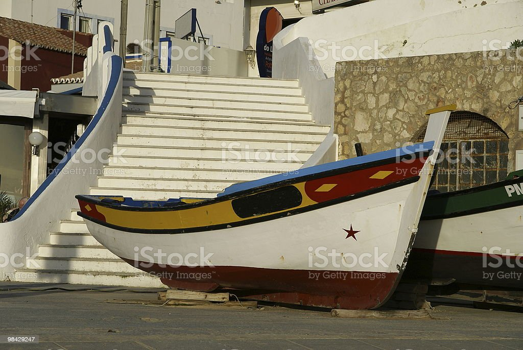 Fisherboat at the Algarve royalty-free stock photo
