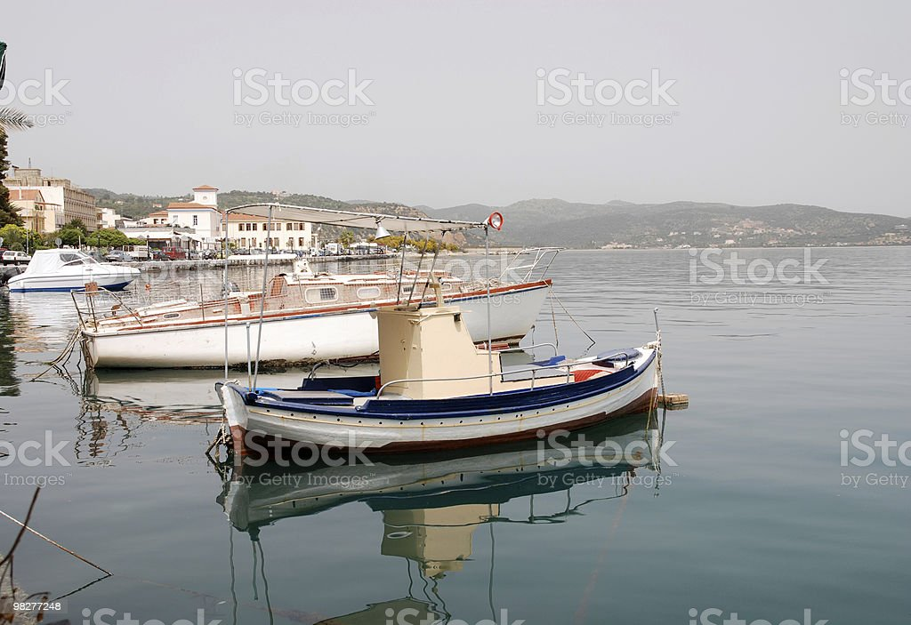 fisherboats in Greece royalty-free stock photo