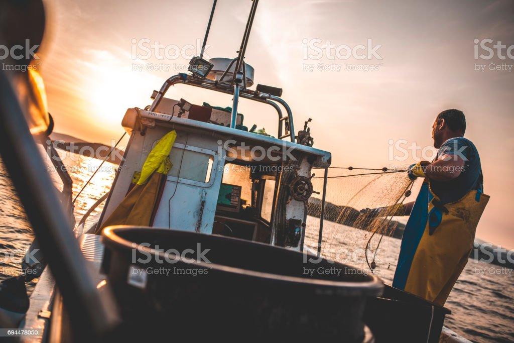 Fischer bei der Arbeit – Foto