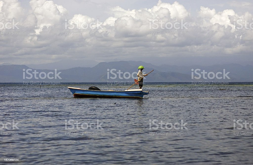 Fisherman Bali Indonesia royalty-free stock photo