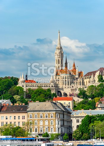 Fisherman Bastion and Matthias Church in Budapest, Hungary