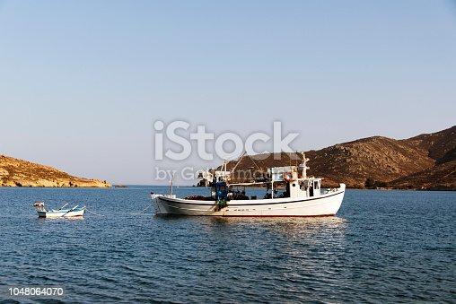 Fisherman boat on the sea