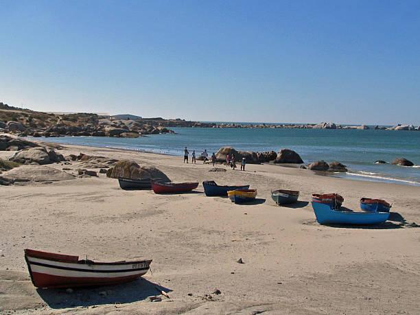 Fisherman boats in Paternoster bay stock photo