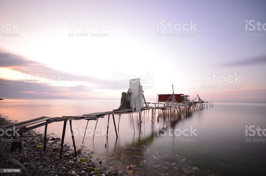 Cabane de pêcheur à Tekirdag photo libre de droits