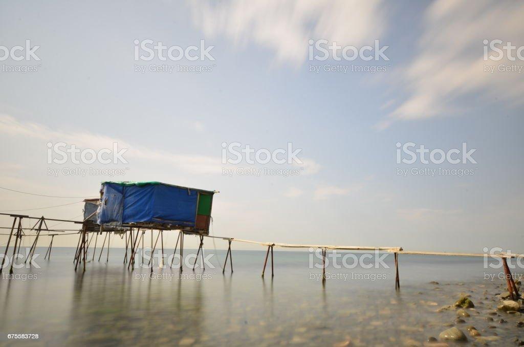 Fisherman hut in Tekirdag foto de stock royalty-free