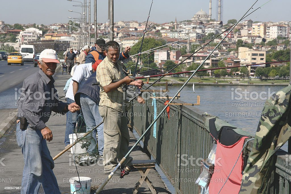 Fisherman in Istanbul royalty-free stock photo