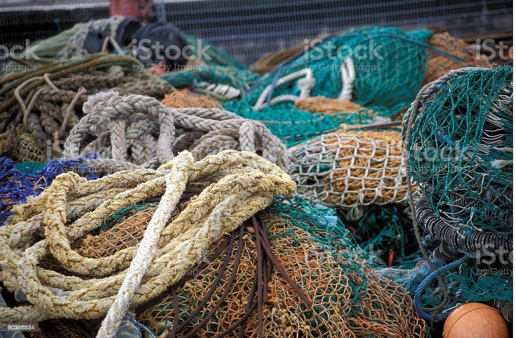 Fisherman Nets royalty-free stock photo