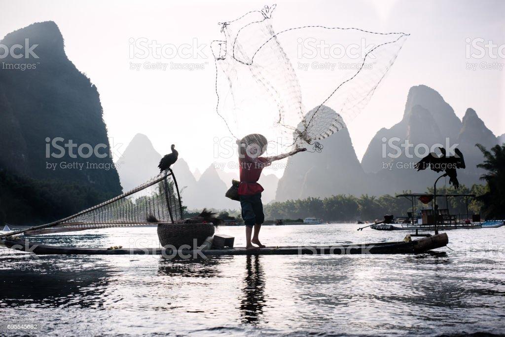 Fischer der Li-Fluss – Foto