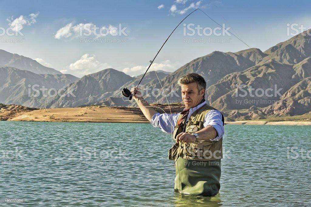 Fisherman royalty-free stock photo