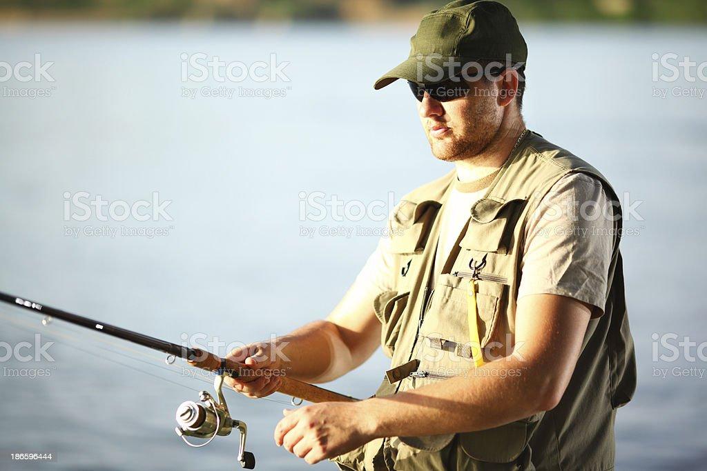 Fisherman. royalty-free stock photo