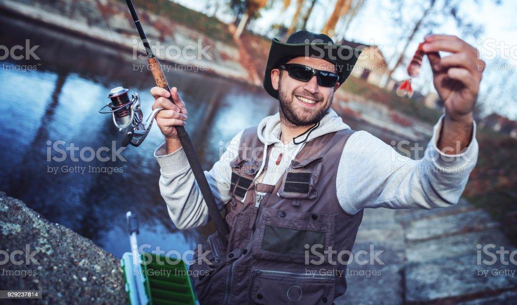 Fisherman. Sport, recreation, lifestyle stock photo