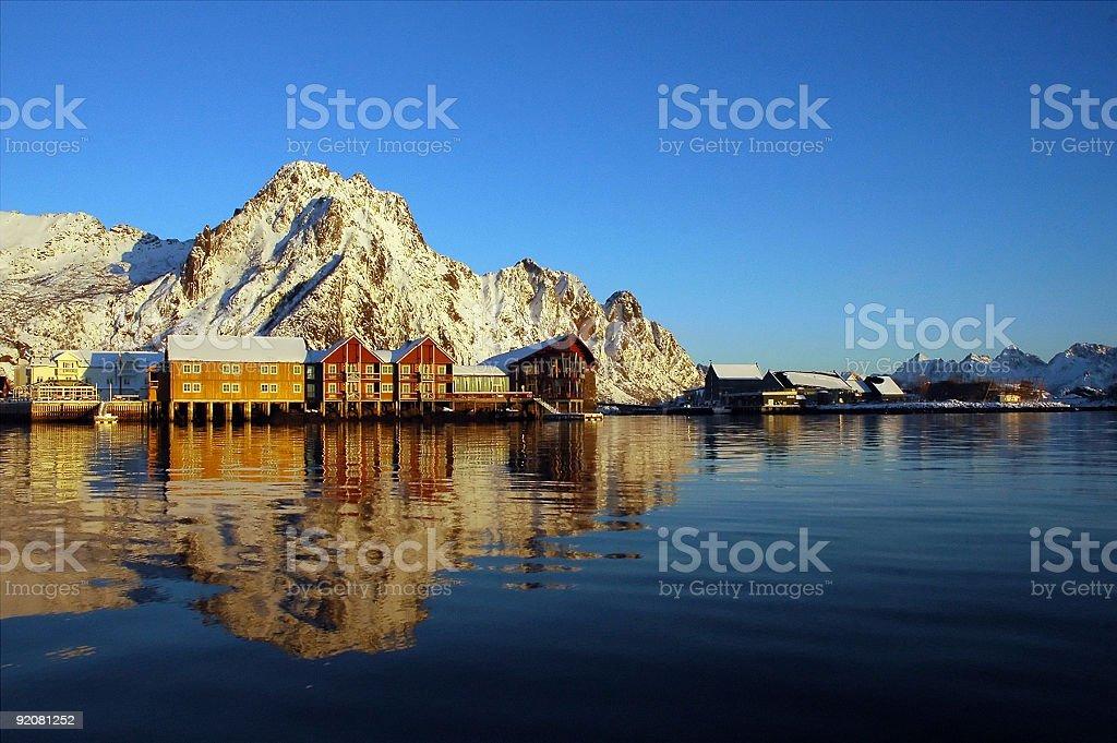 Fisherman Village stock photo