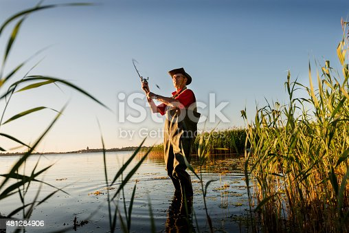 483319252istockphoto Fisherman Wearing Waders Casting His Line Out 481284906