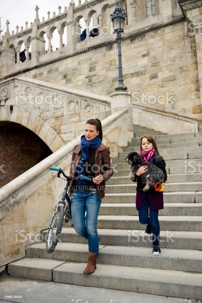 Fisherman's Bastion - Budapest, Hungary royalty-free stock photo