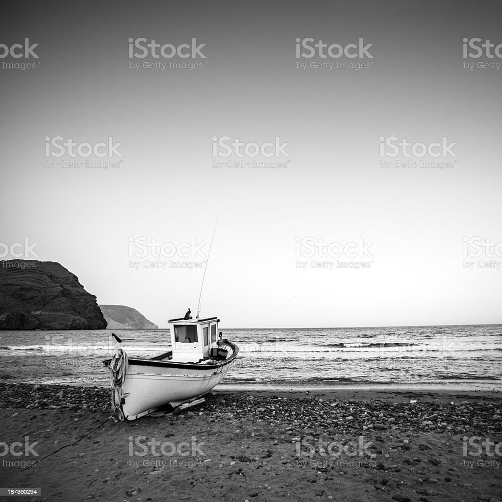 fisherman's boat in Andalusia, Spain royalty-free stock photo